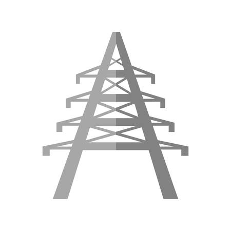 Electrical tower icon over white background vector illustration