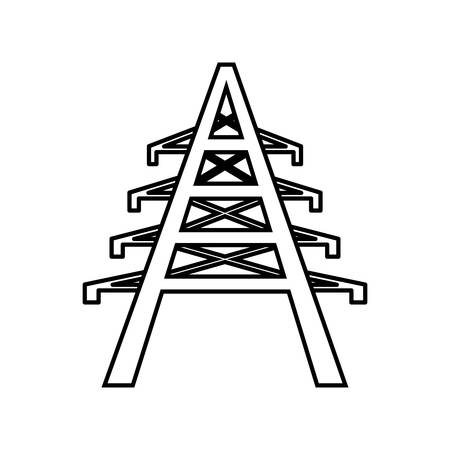 torres eléctricas: electrical tower icon over white background. vector illustration