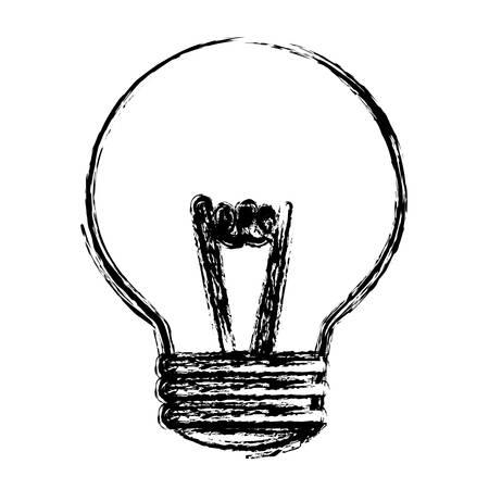 light bulb icon over white background. vector illustration