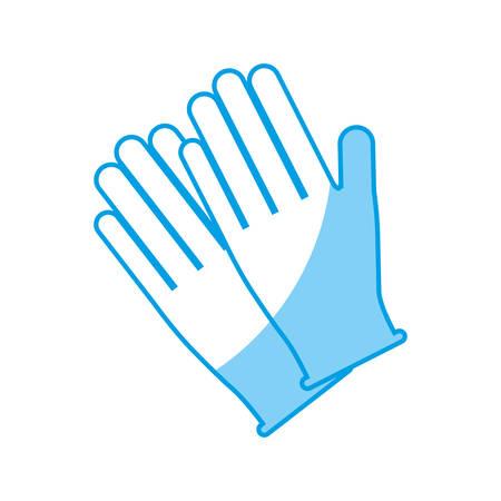 gloves accessory icon over white background. vector illustration Çizim