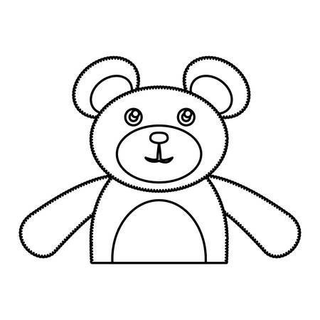 simple life: Teddy bear toy icon vector illustration graphic design Illustration