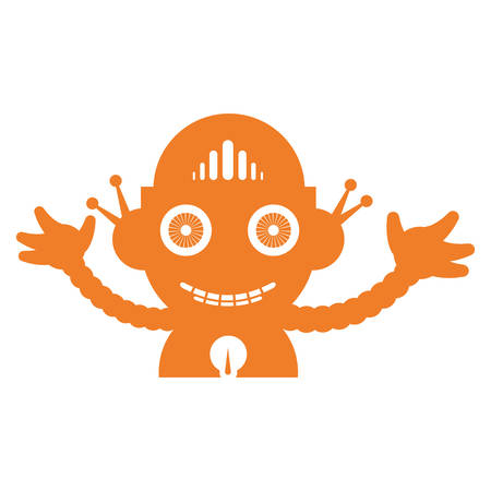 Robot funny toy icon vector illustration graphic design
