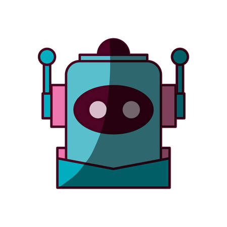 funny robot: Robot funny toy icon vector illustration graphic design