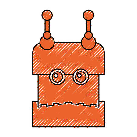 computer operator: Robot funny toy icon vector illustration graphic design