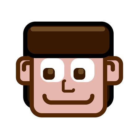 face men happy icon vector illustration graphic design
