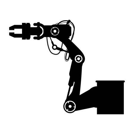 Robot Arm Laser icon vector illustration graphic design Illustration