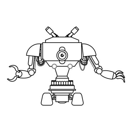 funny robot: robot toy funny icon vector illustration graphic design Illustration