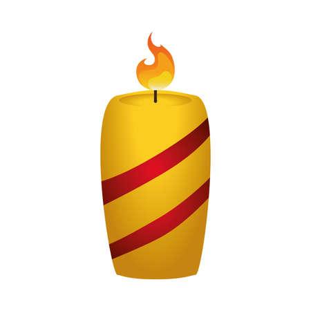 birthday religious: Candle christmas decorative icon vector illustration graphic design Stock Photo