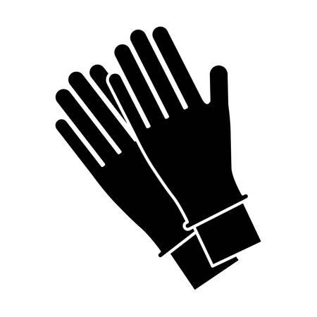 gloves accessory icon over white background vector illustration Ilustração