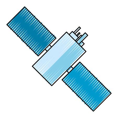 satellite space antenna icon vector illustration graphic design Illustration