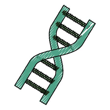 Adn het genetische grafische ontwerp van de codepictogram vectorillustratie