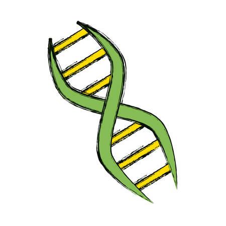 Adn het genetische grafische ontwerp van de codepictogram vectorillustratie. Stock Illustratie