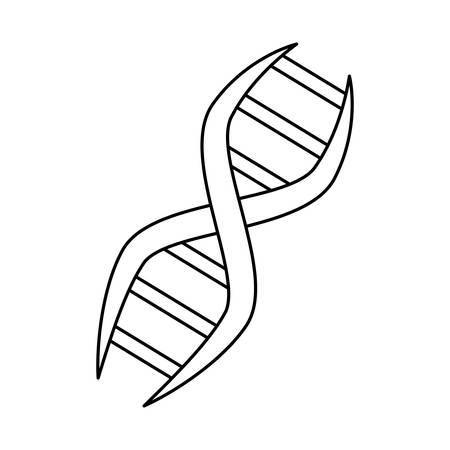 Adn genetische code icoon vector illustratie grafisch ontwerp.