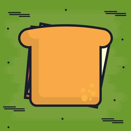 sandwich icon over green background colorful design vector illustration Ilustracje wektorowe