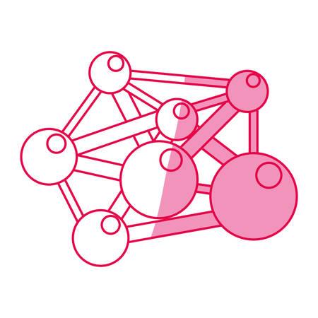 polymer: molecule component chemistry icon vector illustration graphic design Illustration