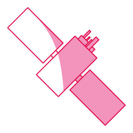 satelite: satellite space antenna icon vector illustration graphic design Illustration