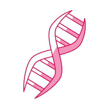 Dna código de código genético ilustración vectorial diseño gráfico