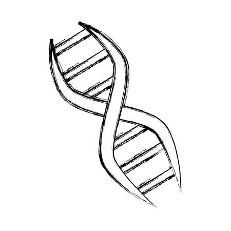 DNA genetische code icoon vector illustratie grafisch ontwerp
