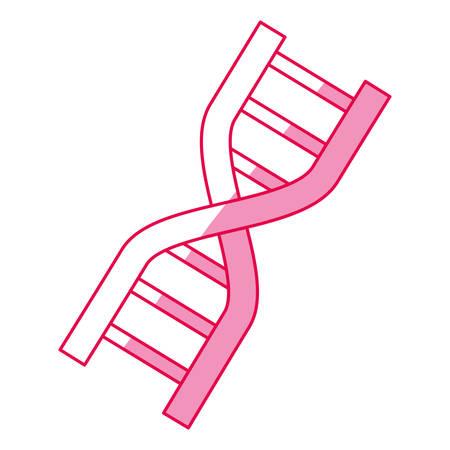 Adn icono de código genético ilustración vectorial diseño gráfico