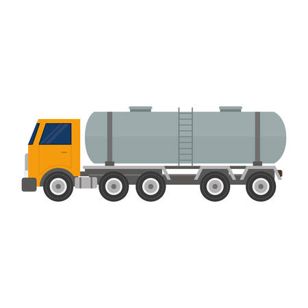 tank truck icon over white background vector illustration Vettoriali