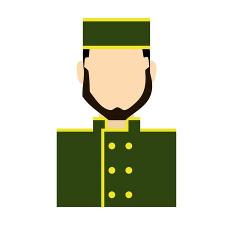 bellboy icon over white background colorful design vector illustration Illustration