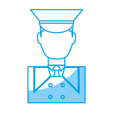 bellboy man icon over white background vector illustration