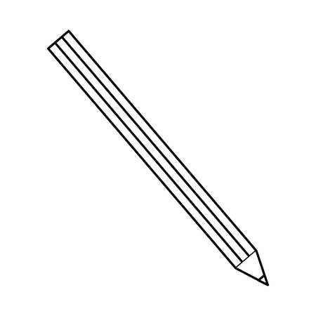 writer: pencil icon over white background vector illustration
