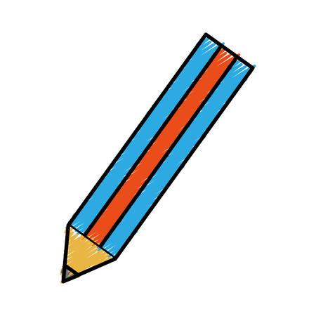 secretarial: pencil utensil icon over white background vector illustration Illustration