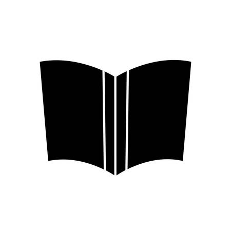 reader: book icon over white background vector illustration