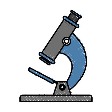 microscope tool icon over white background vector illustration