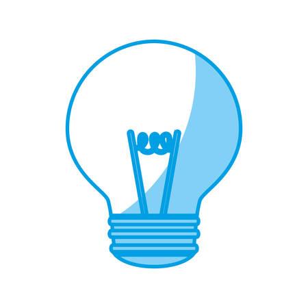 light bulb icon over white background vector illustration Illustration