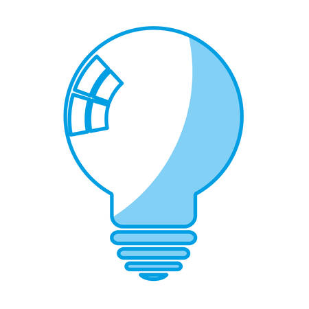 light bulb icon over white background vector illustration Illustration