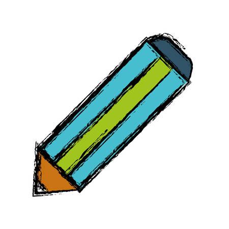 secretarial: pencil utensil icon over white background colorful design vector illustration