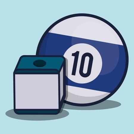 billiards ball icon over blue background colorful design vector illustration Illustration