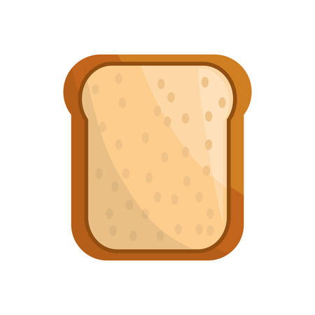 toasted: toasted bread loaf vector illustration graphic design icon Illustration