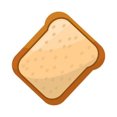 toasted bread loaf vector illustration graphic design icon Illustration