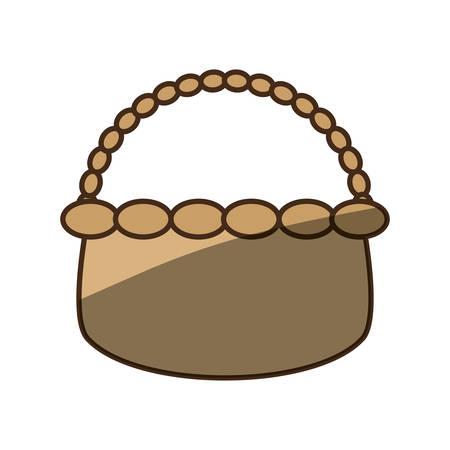 wicker basket crate vector illustration graphic design icon Illustration