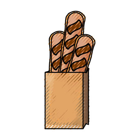 Bread loaf box vector illustration graphic design icon. Illustration