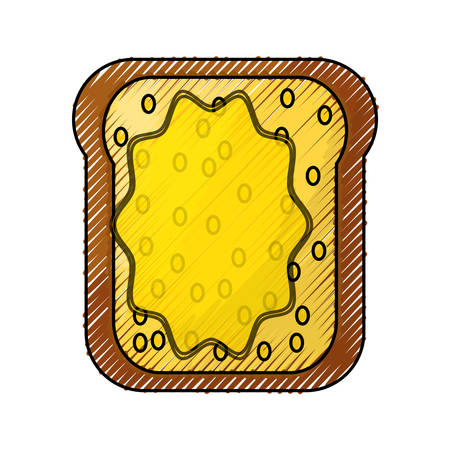 Toasted bread butter vector illustration graphic design icon.