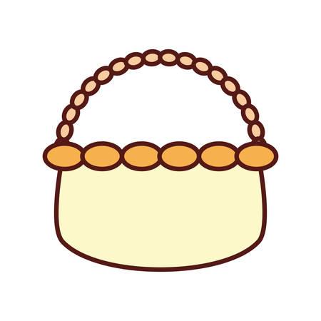 Wicker basket crate illustration graphic design icon
