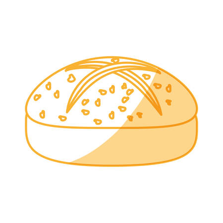 Dinner roll loaf vector illustration graphic design icon.