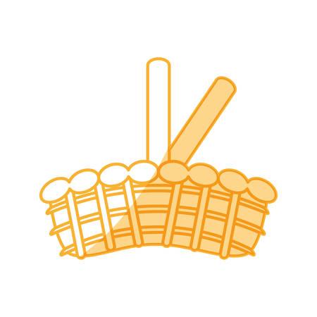 Wicker basket crate vector illustration graphic design icon. Illustration