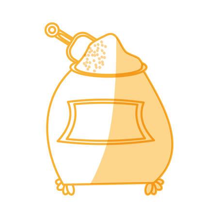 Flours sack sugar vector illustration graphic design icon. Illustration