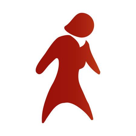 Faceless woman adult vector illustration graphic design icon Illustration