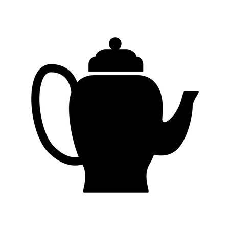 Teapot tea hot icon vector illustration graphic design