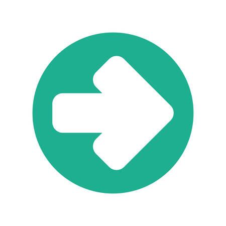 illustraion: arrow to right sign icon vector illustration graphic design Illustration