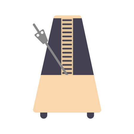 Metronome icon over white backgroun dvector illustration.