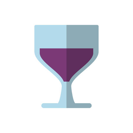 Wine glass icon over white background vector illustration.
