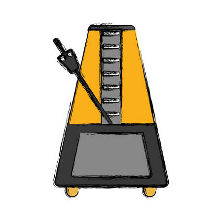 metronome icon over white backgroun dvector illustration Illustration