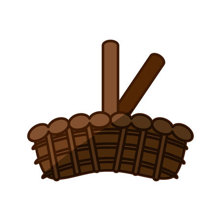 wood crate: Wicker basket crate vector illustration graphic design icon. Illustration